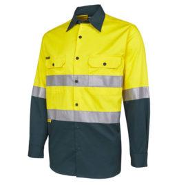 Hi-Viz Long Sleeve Work Shirt