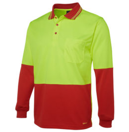 Hi-Viz Long Sleeve Polo Shirt
