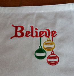 Christmas Apron Believe